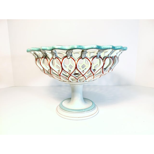 Antique Samson & Cie French Porcelain Neoclassical Centerpiece, Late 19th Century For Sale - Image 12 of 12