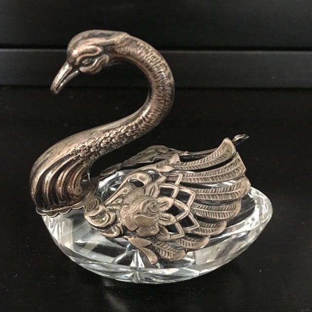 German Sterling Silver & Crystal Open Salt For Sale In Austin - Image 6 of 11