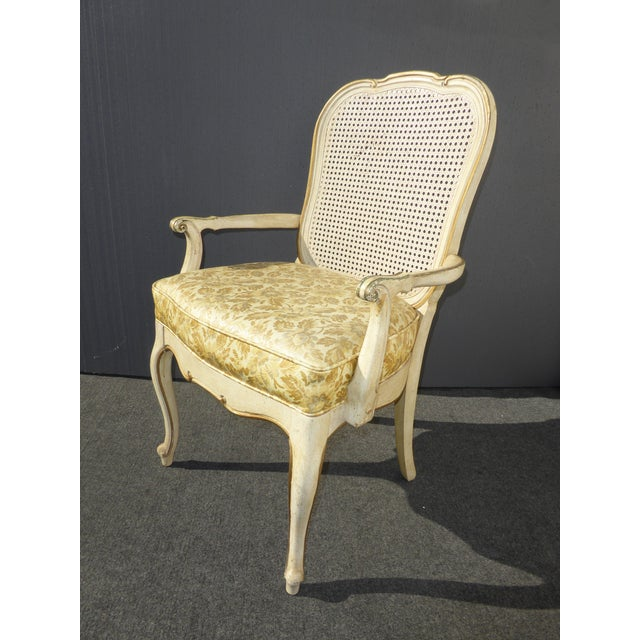 Set Of 6 Dining Chairs: Thomasville French Cane Dining Chairs - Set Of 6