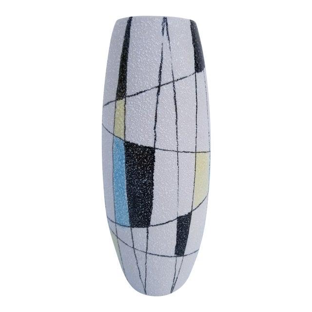 1970s Mondrian Style Hand Painted Italian Ceramic Vase Chairish
