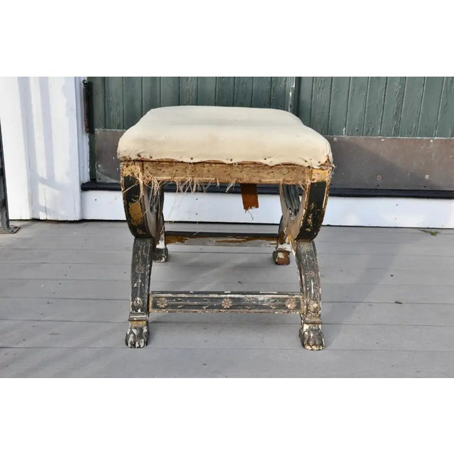 Early 19th Century Early 19th Century French Imperial Empire Tabouret Ordered for the Tuileries For Sale - Image 5 of 10