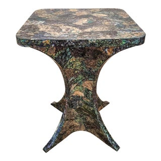 Boho Chic Style Paua Shell Table For Sale