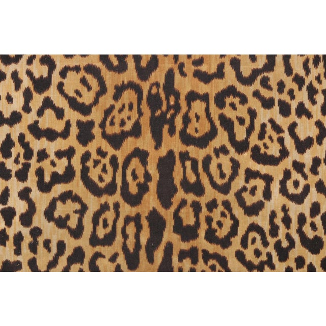 Leopard Print Upholstered Bench - Image 5 of 7