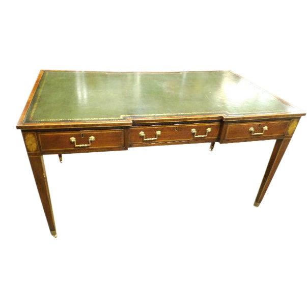 Rare Vintage Original Leather Top Partner / Writing Desk For Sale