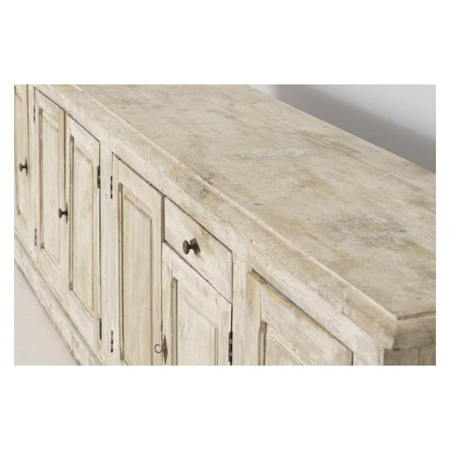 White 19th Century French Provençal Louis Philippe Style Enfilade in Original Patina For Sale - Image 8 of 10