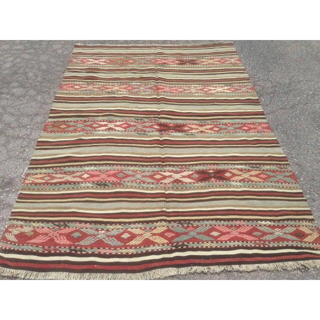 Traditional Anatolian Rug - 4′10″ × 7′ For Sale - Image 4 of 6