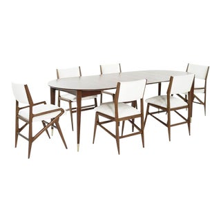 Dining Room Set by Gio Ponti for M. Singer & Sons, C. 1950s For Sale