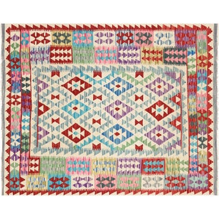 "Nalbandian - Contemporary Afghan Maimana Kilim - 4'7"" X 5'8"" For Sale"