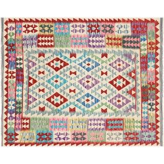 "Nalbandian - Contemporary Afghan Maimana Kilim - 4'7"" X 5'8"" For Sale"