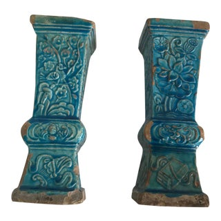 17th Century Ming Turquoise Vases - a Pair For Sale