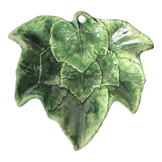Vietri Italian Faience Leaf Bowl-'Foglia' For Sale