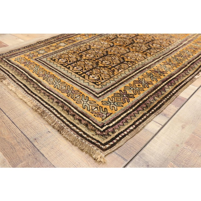 Vintage Shiraz Persian Tribal Rug With Mid-Century Modern Style - 3'6 X 5'4 For Sale - Image 4 of 8