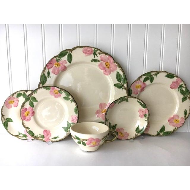 Green Franciscan Desert Rose Dinnerware - Service for 6 For Sale - Image 8 of 8