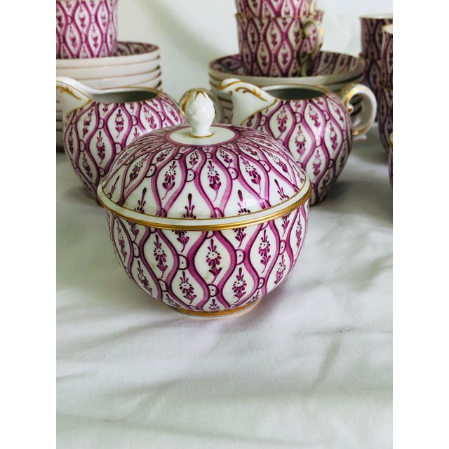 1950s Nymphenburg Porcelain 36 Piece Demitasse Coffee Service For Sale - Image 5 of 8