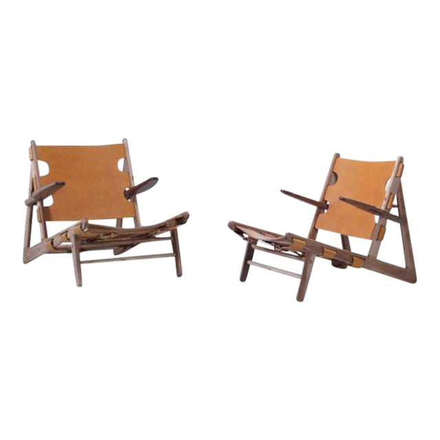 Borge Mogensen Inspired Hunting Chairs - a Pair For Sale