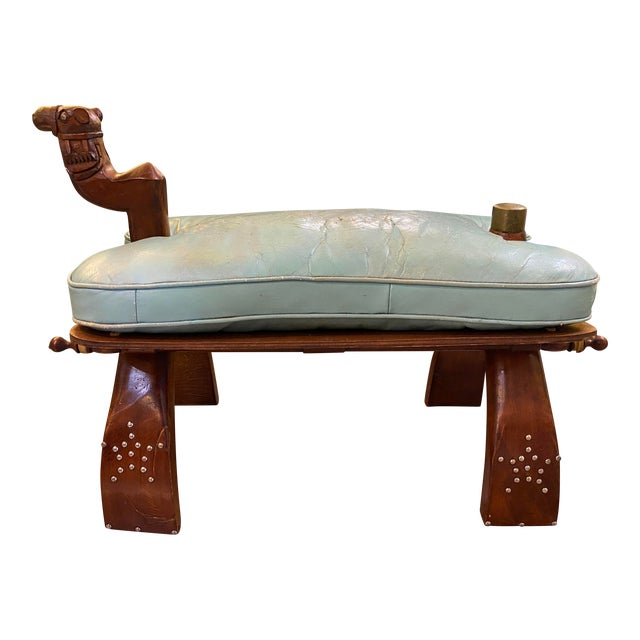 Vintage Camel Saddle Stool For Sale