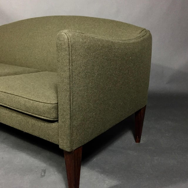 Illum Wikkelsø Illum Wikkelsø 2-Seat Wool Sofa, Denmark 1960s For Sale - Image 4 of 12