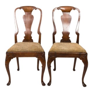 Early 19th Century Early 19th Century Queen Anne Side Chairs - a Pair For Sale