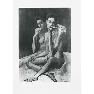 "1971 Pablo Picasso, ""The Two Friends"" Original Period Parisian Photogravure For Sale"