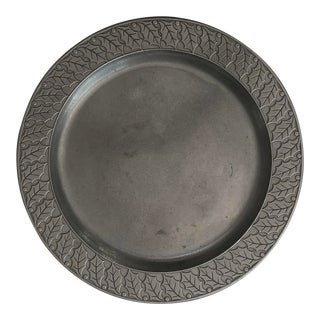 "Vintage Mid-Century Wilton Columbia Large 14"" Pewter Tray For Sale"