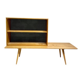 Paul McCobb Planner Group Mid-Century Modern Bench & Bookcase Set For Sale