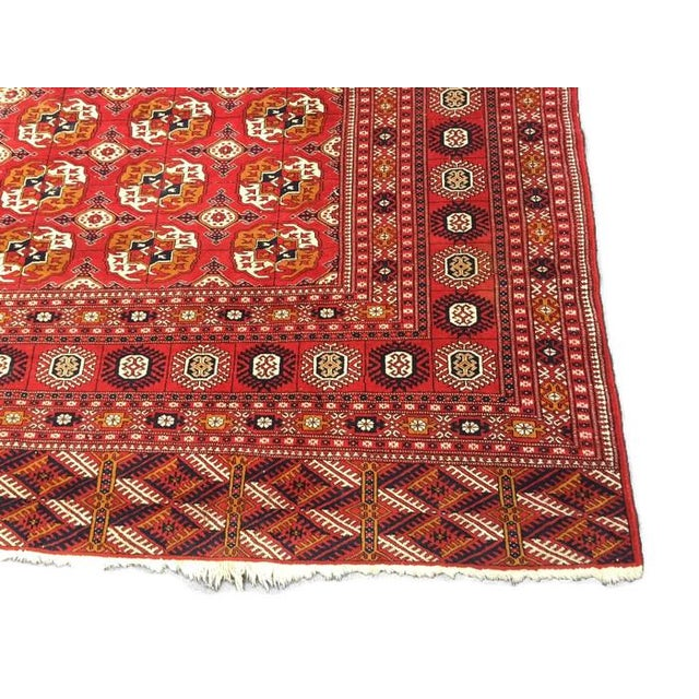 Antique Tribal Turkoman Bohkara Hand Knotted Wool Area Rug - 9′5″ × 12′8″ For Sale In Richmond - Image 6 of 10