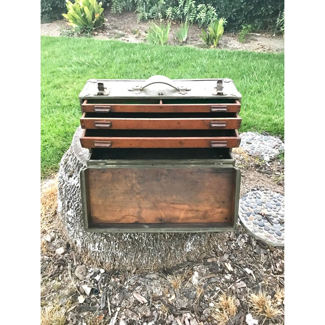 Antique Wooden Tool Box - Image 3 of 4