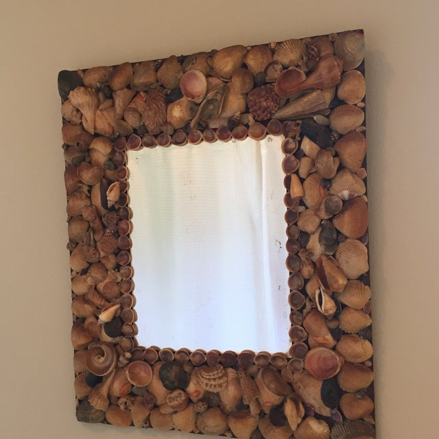 Vintage Shell Mirror For Sale - Image 4 of 4