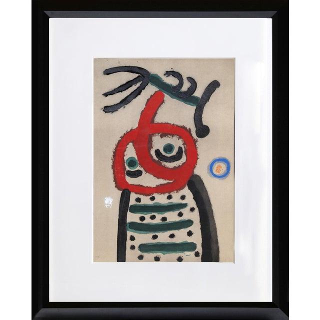 "Abstract ""Cartones 22: Femme Et Oiseau"" For Sale - Image 3 of 3"
