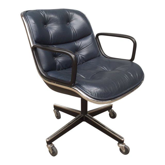 Charles Pollock for Knoll Blue Office Chair - Image 1 of 7