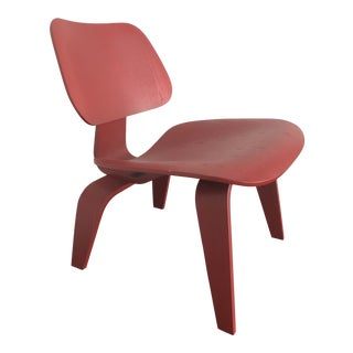 Eames® Molded Red Plywood Lounge Chair