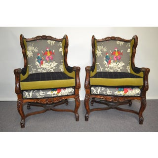 Vintage Wooden Framed Chairs- A Pair Preview