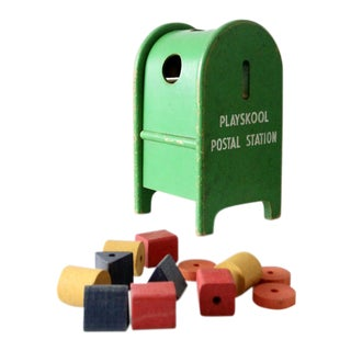 Mid-Century Playskool Postal Station Toy For Sale