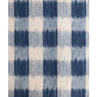 Jay Yang Ikat Buffalo Check Fabric - 2 Yards For Sale
