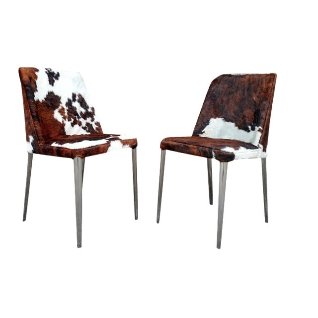 Gambrell Renard Cowhide Chairs - A Pair - Image 1 of 4