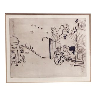 """Marc Chagall """"The Arrival of Tchtichikov"""" Print For Sale"""