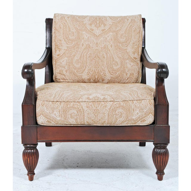 Traditional Early 20th Century Large Vintage Arm Chairs - a Pair For Sale - Image 3 of 8