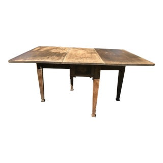 19th Century Swedish Drop Leaf Dining Table For Sale