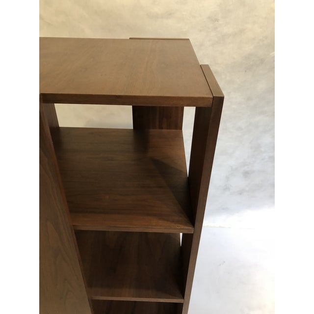 1960s Revolving Walnut Bookcase For Sale - Image 5 of 9
