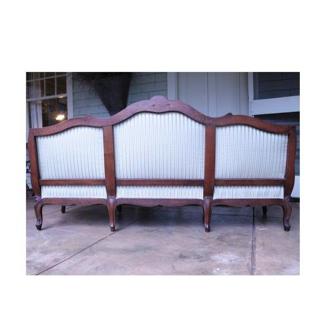 Early 20th Century Italian Louis XV Style Walnut Sofa For Sale - Image 5 of 13