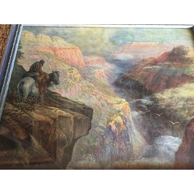 Vintage Framed Grand Canyon Western Print - Image 5 of 6