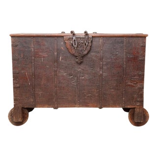 Antique Indian Trunk Table