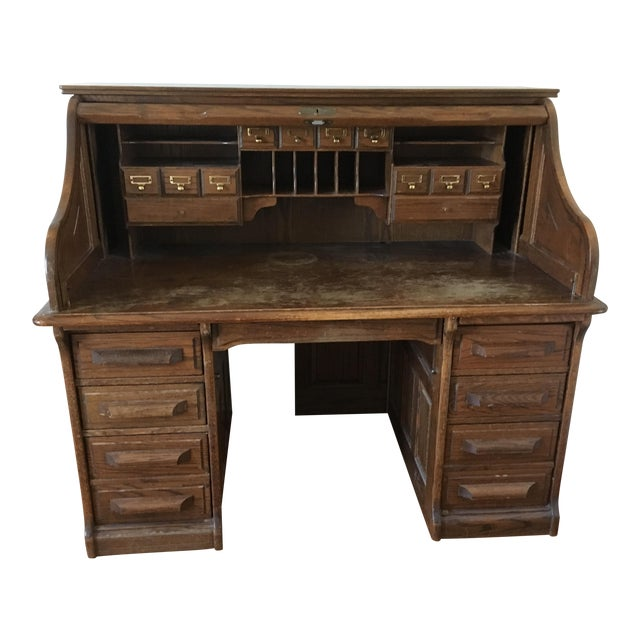 Vintage Jefferson Rolltop Desk