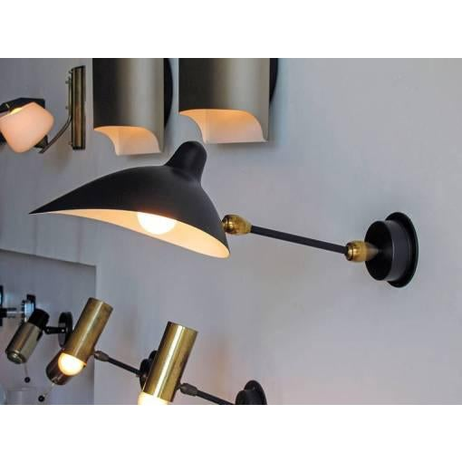 Serge Mouille Adjustable Black Metal Wall Light For Sale - Image 9 of 10