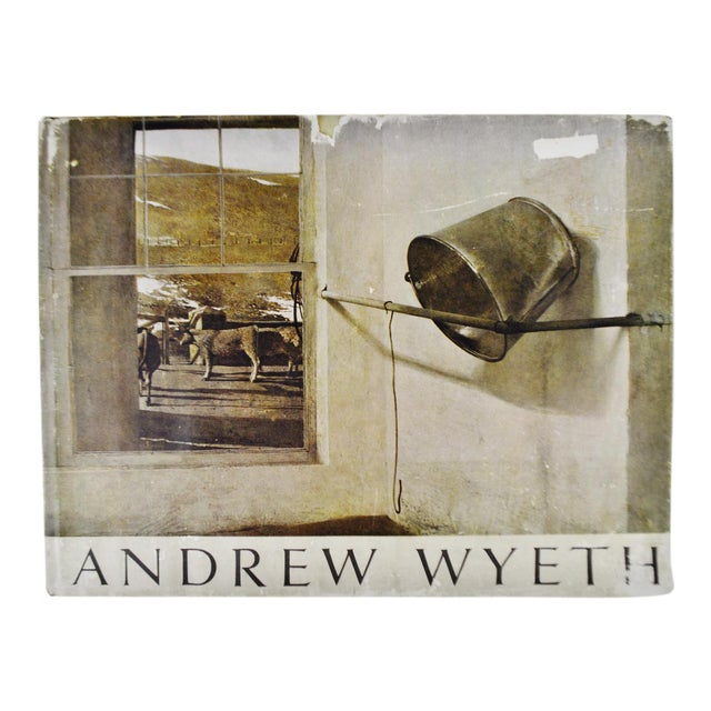 Vintage 1968 Andrew Wyeth Art Coffee Table Book