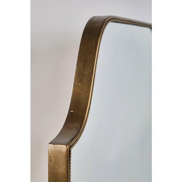 Mid 20th Century Mid 20th Century Italian Brass Shield Mirror For Sale - Image 5 of 7