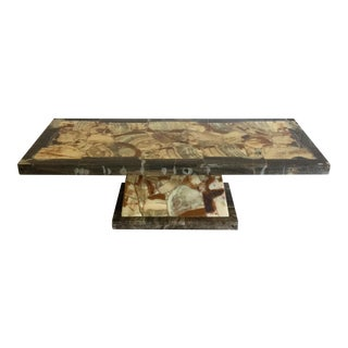 Onyx Coffee Table Muller and Arturo Pani For Sale