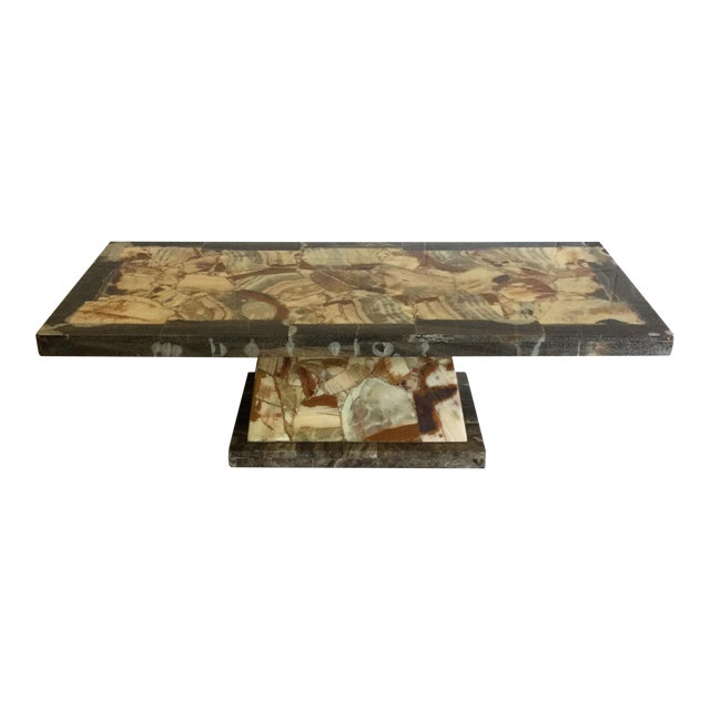 Rectangular Onyx Coffee Table Attributed to Muller and Arturo Pani For Sale