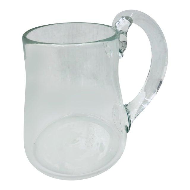 Handblown Glass Pitcher For Sale