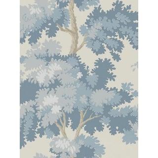 Scalamandre Raphael, Blue Wallpaper For Sale